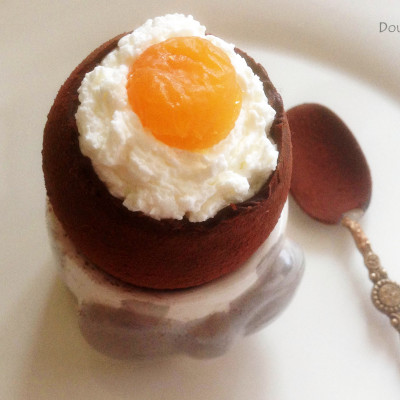 Oeuf Coque Chocolat et Chantilly de Citron Vert
