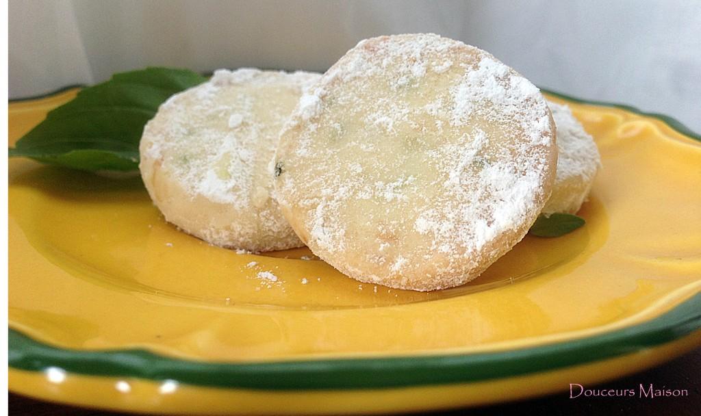 biscuit citron basilic
