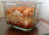 Crumble de Cabillaud et Chutney de Tomates