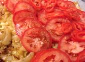 Tarte expresse Tomate Poivron Oignon