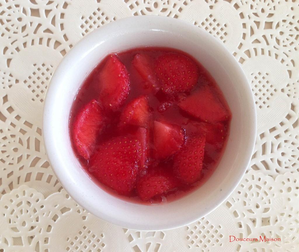 fraises en gelée
