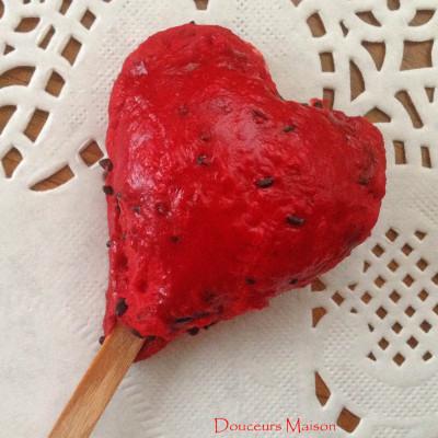 Pie Pops végétariennes de rouge vêtues