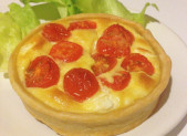 Quiche Tomates Cerise Chèvre Frais