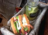 Petite Pause ! Club Sandwich «Fraîcheur» et Fruits verts en gelée