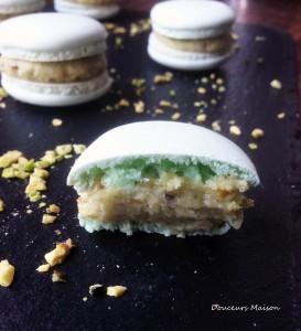 macaron pistache ouvert