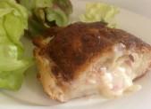Galette au beurre de Normandie façon croissant au jambon
