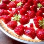 tarte fraise citron pas entiere