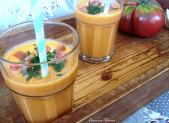 Gaspacho Tomates Anciennes et Pâtisson à ma façon