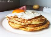 Pancakes de Pommes de terre aux Bacon et œuf