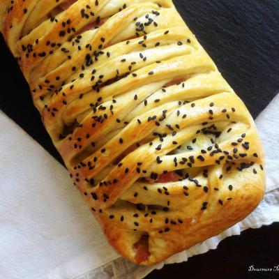 Tresse Jambon Courgettes fromage à la pâte magique