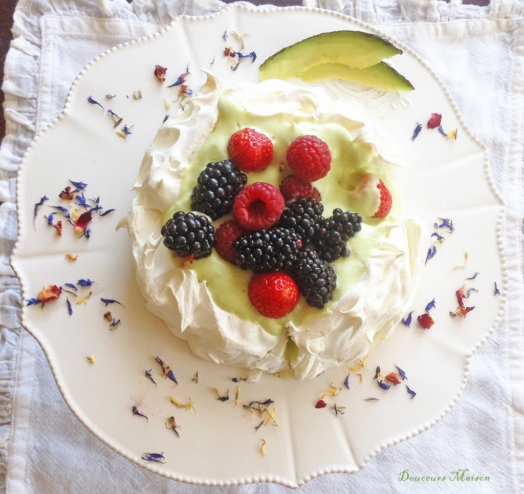 pavlova avocat fruit rouge