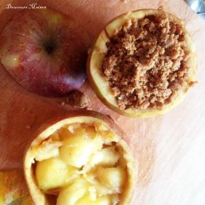 pomme avant le four