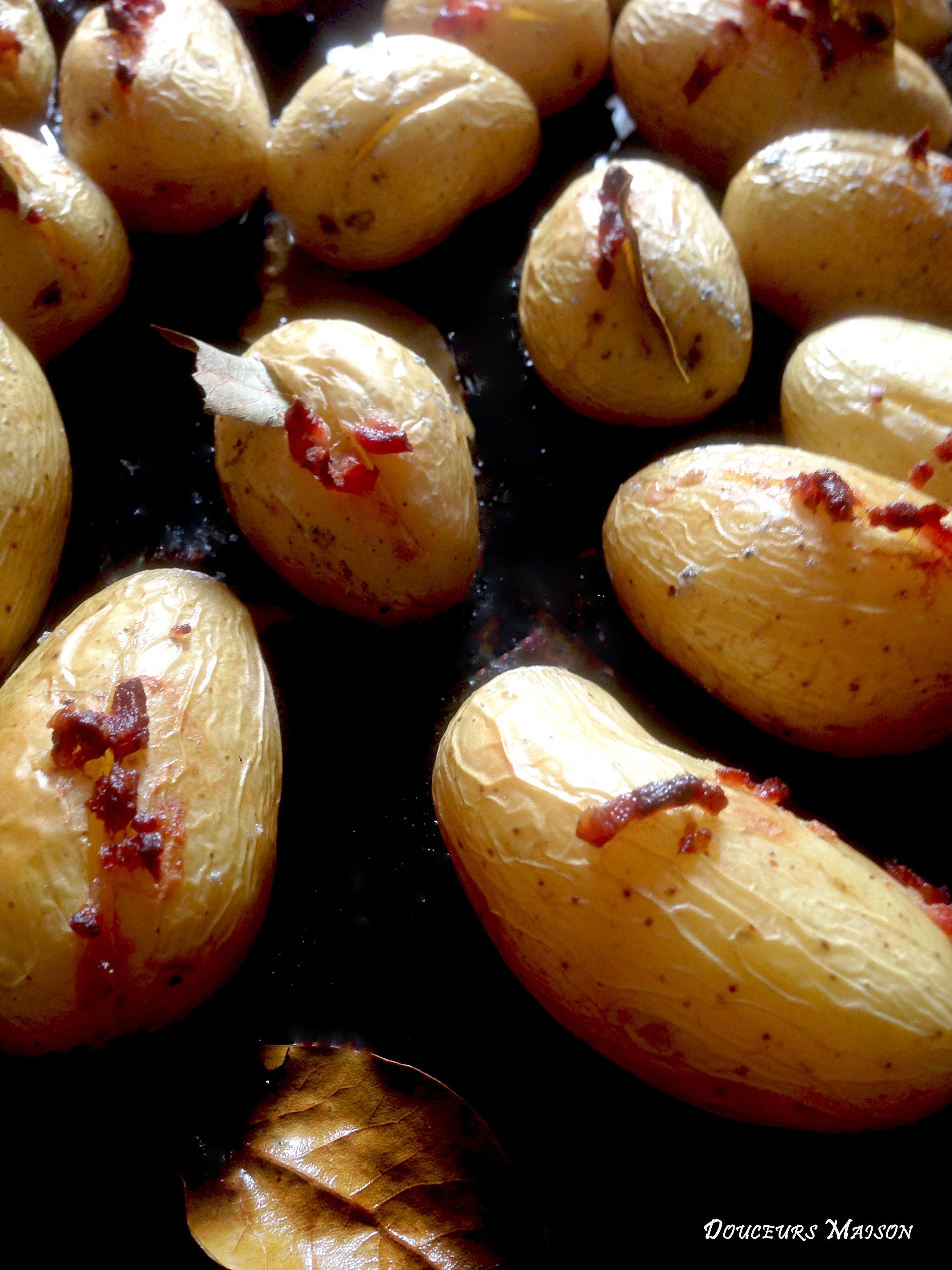 Pommes de terre au lard et laurier douceurs maison - Conservation pommes de terre cuites ...