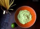 Pasta Verde !  Avocat Citron Vert Basilic