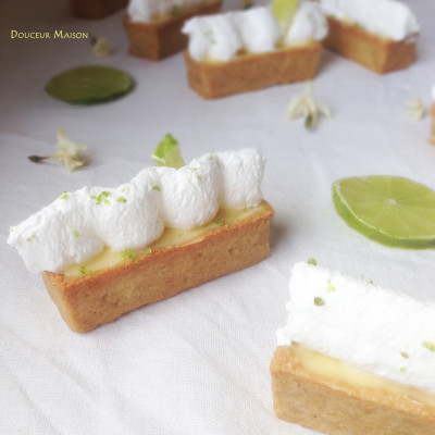 Mini Tartes Citron vert Spéculoos Meringuées
