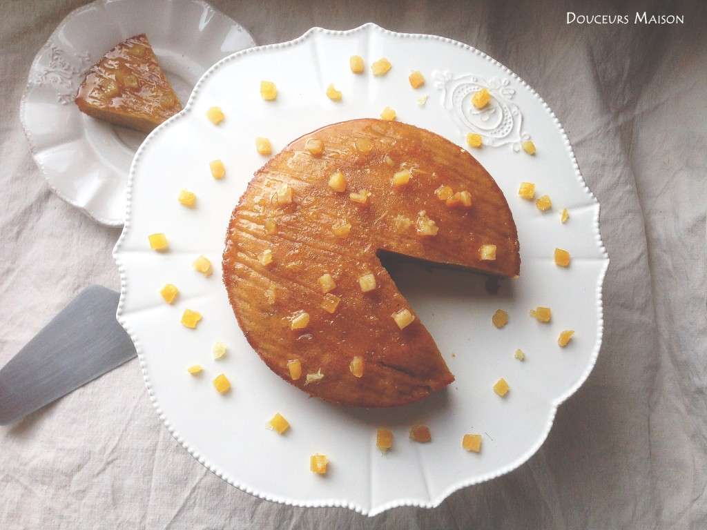 gâteau orange fleur coco