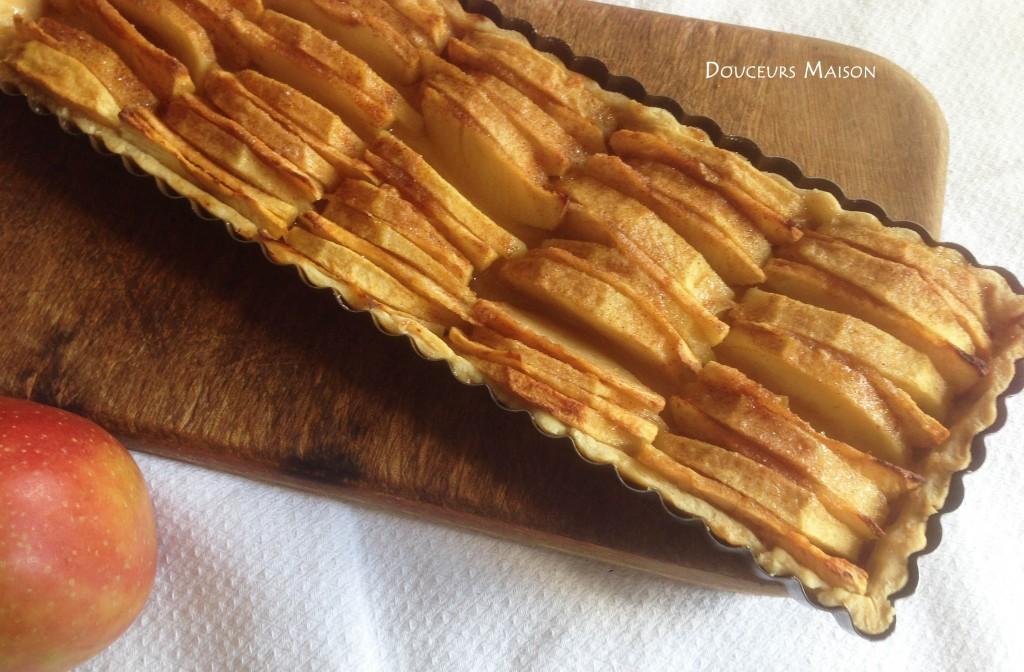 tarte aux pommes sortie du four