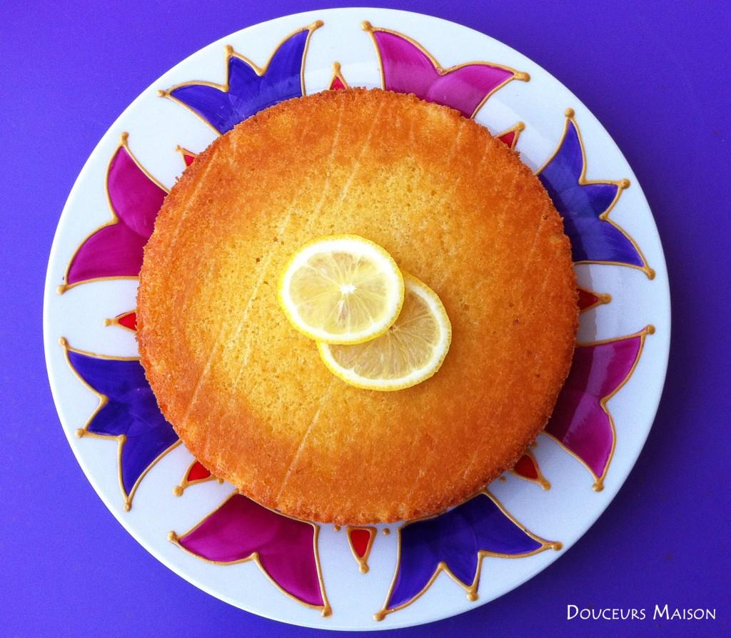 fondant au citron vue du haut