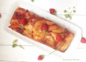 Cake Renversant Pêches Fraises Caramélisées