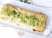 Gâteau Invisible Courgettes Cheddar avec ou sans gluten ni lactose
