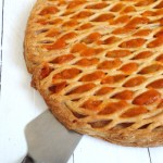 tarte grillé aux pommes abricot