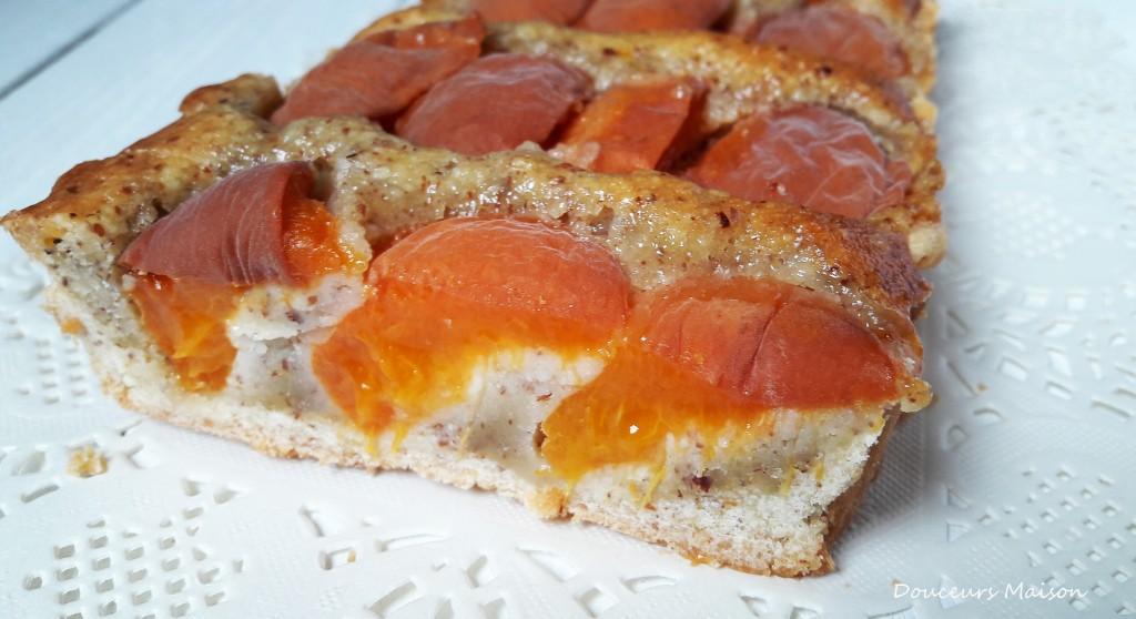 tarte abricots coupée