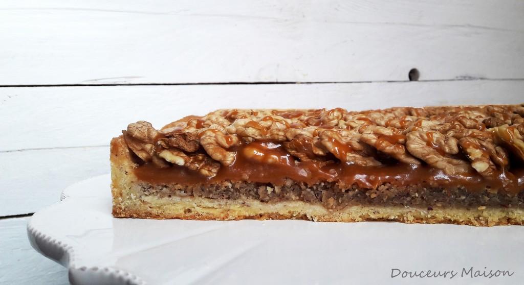 tarte aux noix ouverte