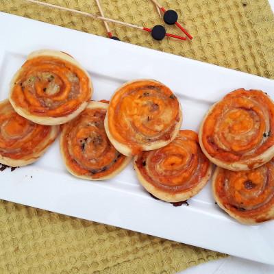 Roulés Feuilletés Bacon/Cheddar