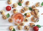 Petits choux Fromage Basilic et Piment d'Espelette